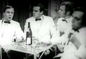 Tim-Brooke Taylor, John Cleese, Graham Chapman and Marty Feldman doing Four Yorkshiremen from At Last the 1948 Show