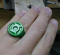 DIY Green Lantern ring