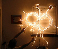 Flying Spaghetti Monster Christmas lights