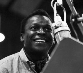 Miles Davis smiling