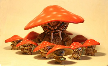 Evil Mushroom Army by Jason Jacenko