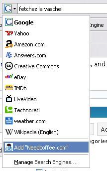 Firefox Search Dropdown