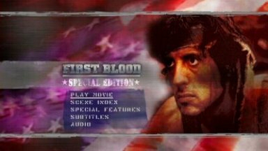 First Blood Special Edition DVD menu