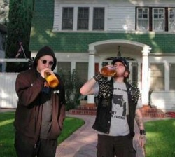 Mortimer A. London and Pigpen have a drink at Elm Street