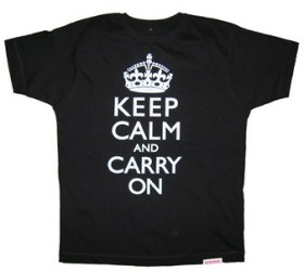 Keep Calm and Carry On T-Shirt by Yes No Maybe