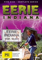 Eerie Indiana Complete Series Umbrella Entertainment Region 4 DVD Cover Art