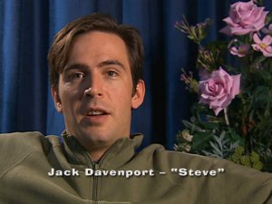Jack Davenport being interviewed, from the Coupling DVD set