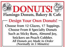 Donuts Ad at Flamingo Cafe