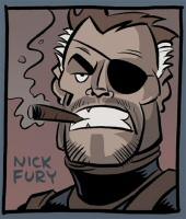 Nick Fury smoking