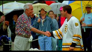 Bob Barker and Adam Sandler from Happy Gilmore