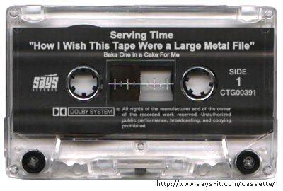Serving Time cassette tape