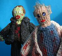 Knitted Day of the Dead characters
