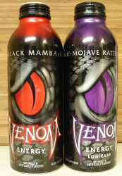 Black Mamba and Mojave Rattler: Venom Energy Drink