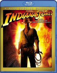Indiana Jones and the Kingdom of the Crystal Skull Blu-Ray cover art