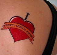 Librarian temporary tattoos