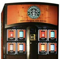 Starbucks vending machine