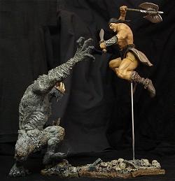 Conan fights the Haunter