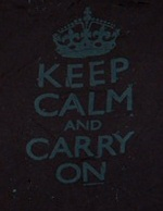 Keep Calm and Carry On, grey on black