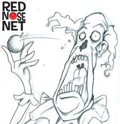 Zombie Clown original sketch for Red Nose Net
