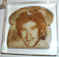 Hasselhoff etched on toast