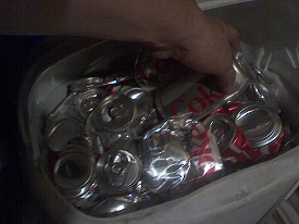 Karina and where Diet Coke cans go to die