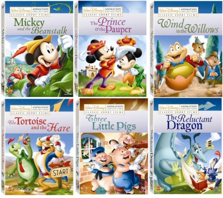 Disney Animation Collection: Classic Short Films Vols. 1-6 DVD cover art