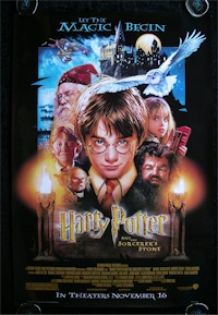 Harry Potter and the Sorcerer's Stone movie poster art