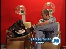 Pete Docter and the Pixar chimp