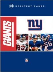 NFL: New York Giants - 10 Greatest Games DVD cover art