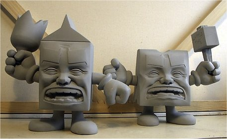 Milk and Cheese vinyl toys