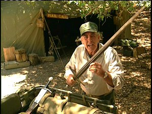 R. Lee Ermey and sword from Mail Call