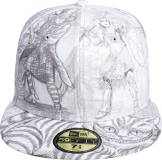 Alice in Wonderland all-over cap