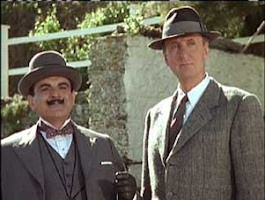 David Suchet and Hugh Fraser as Poirot and Hastings