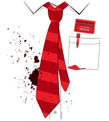 Shaun of the Dead: Bit of Red on You t-shirt from T-shirt Bordello