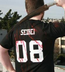 Black Zombie Hunter shirt by Seibei