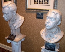Thurl Ravenscroft and Paul Frees Haunted Mansion busts