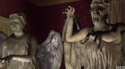 Weeping Angels from the Doctor Who trailer