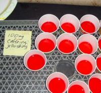 Caffeinated Jell-O shots