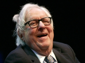 Ray Bradbury laughing