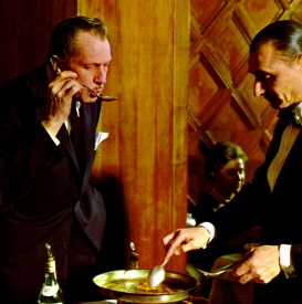 Vincent Price tastes soup
