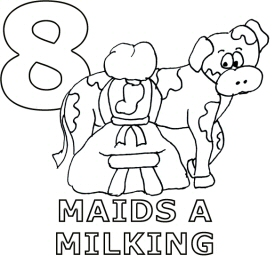 8 Maids a Milking