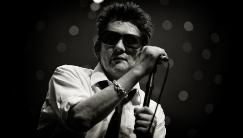 Shane MacGowan of the Pogues, live at the Olympia in Paris