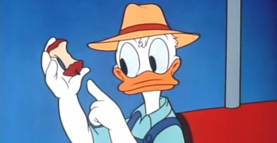 Donald Duck Applecore