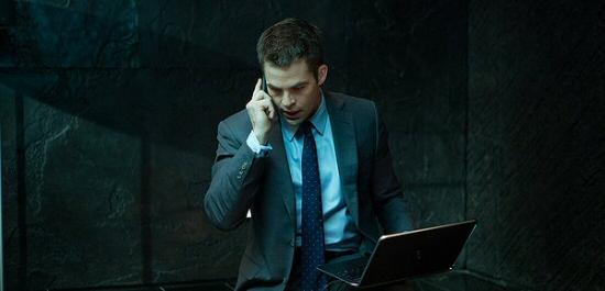 Chris Pine as Jack Ryan in Jack Ryan: Shadow Recruit