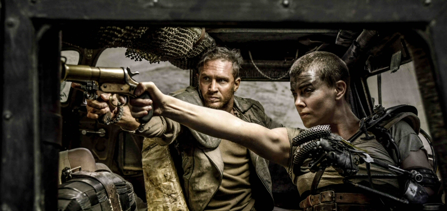 Tom Hardy and Charlize Theron in Mad Max: Fury Road