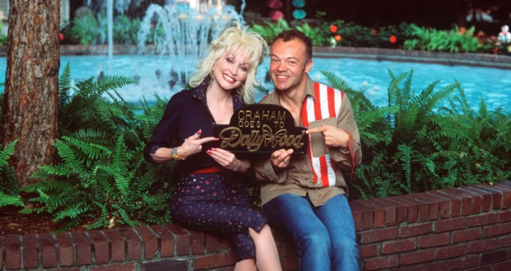Dolly Parton and Graham Norton