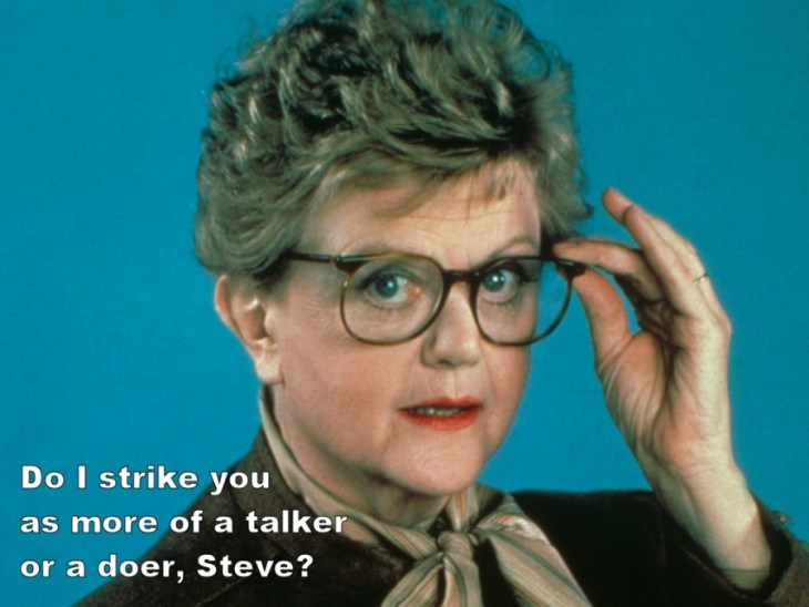 Angela Lansbury in True Detective, She Wrote