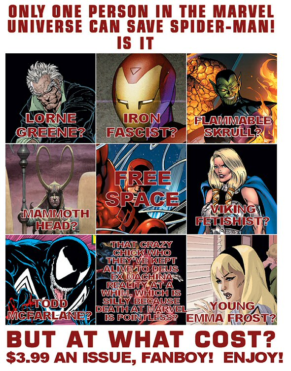 Who can save Spider-Man?