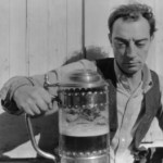 Buster Keaton and beer