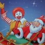 Ronald McDonald and Santa Claus